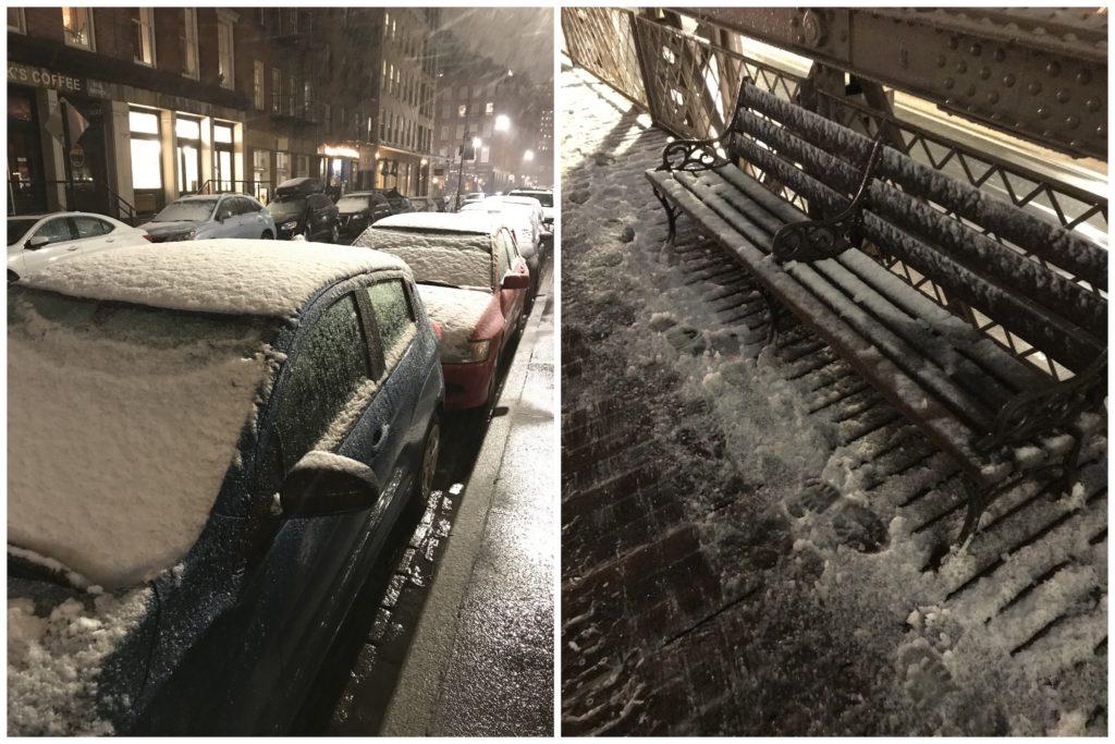 South Street in snow New York