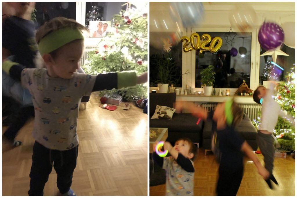 Silvester Spielideen Kinder Neonparty