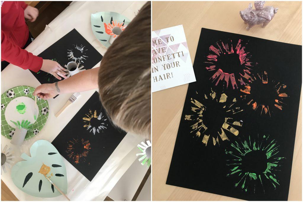 DIY Silvester Feuerwerk Bilder Neujahr