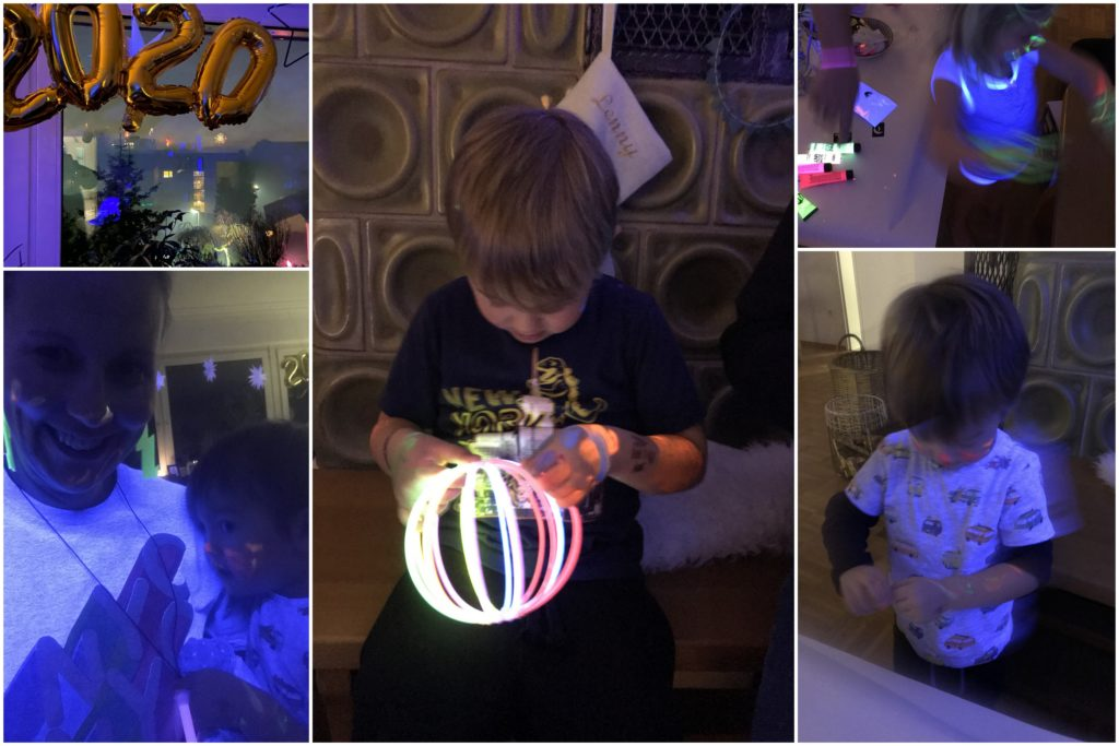 Neon Partyideen Kinder Silvester