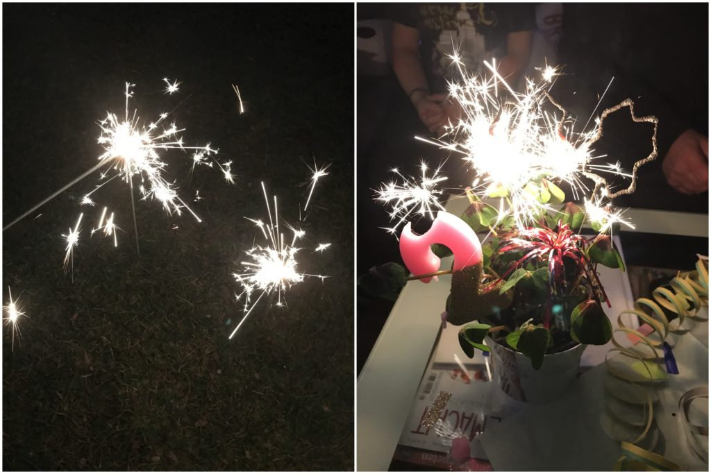 Feuerwerk mit Kindern