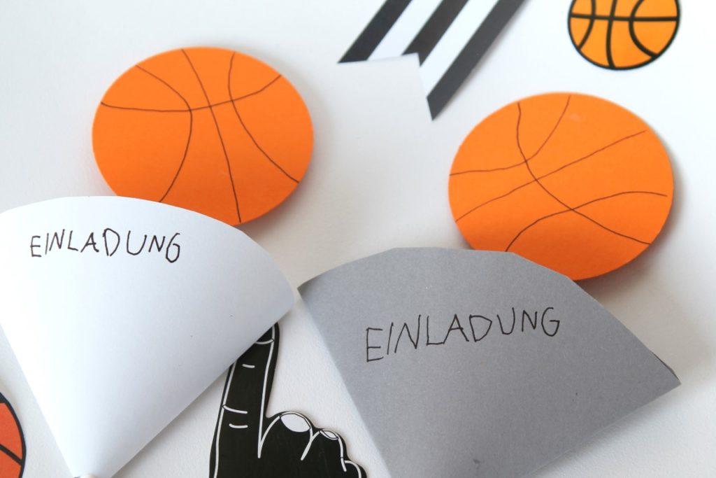 Basketball Einladung Mottoparty Kindergeburtstag