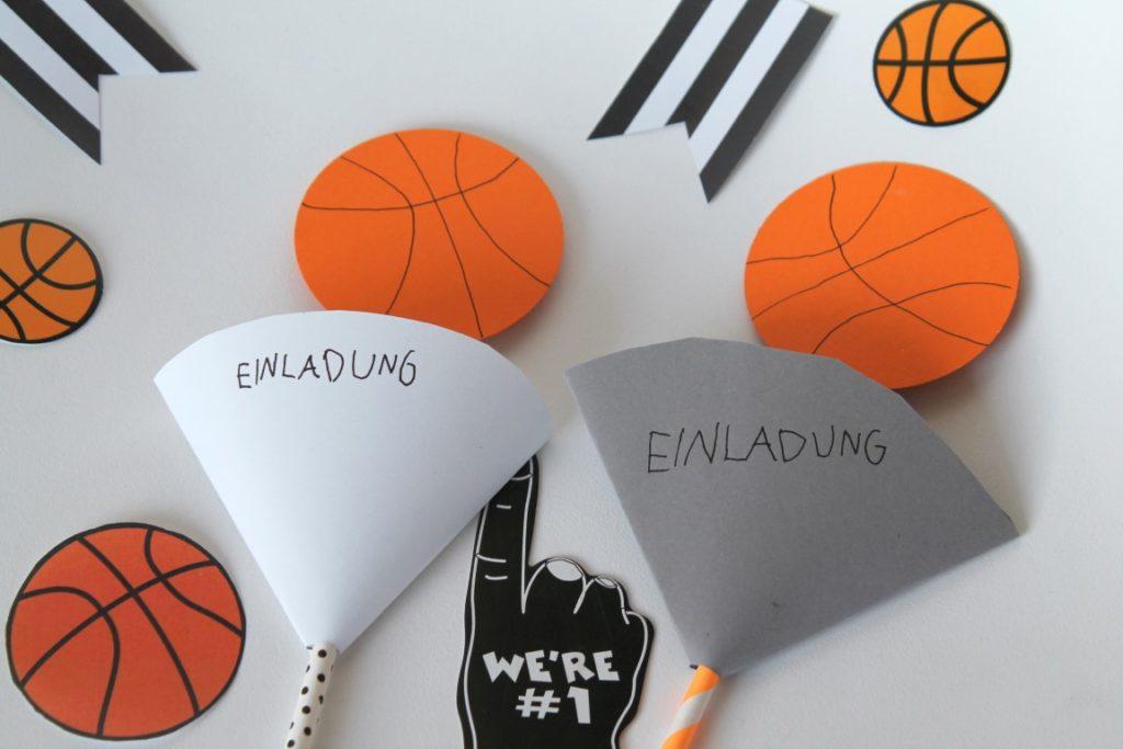 Einladungskarten Basketball Kindergeburtstag