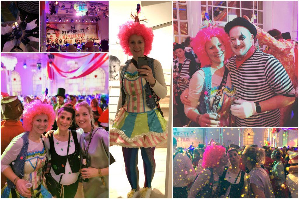 Pastell Clown Kostüm