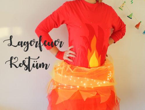 Lagerfeuer Kostüm selbstgemacht