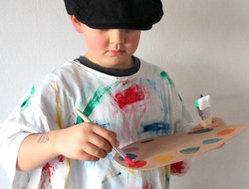 DIY Maler Kostüm ergobag