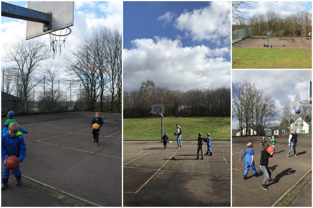 Schatzsuche Basketballfeld Spiele