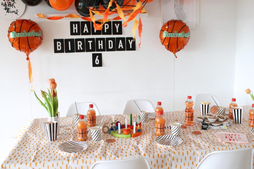 Tischdeko Basketball Geburtstag