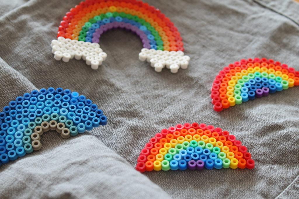 Buegelperlen Regenbogen DIY