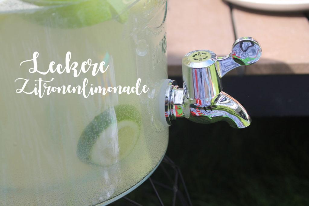 Rezept Zitronenlimo Kinder Garten Sommer