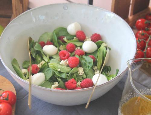 Himbeer_Ziegenkäse-Salat Sommer