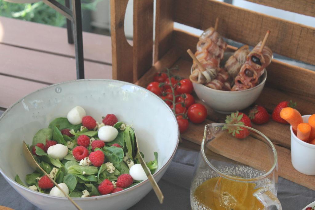 Himbeer_Ziegenkäse-Salat Sommer Tapas-Spiess