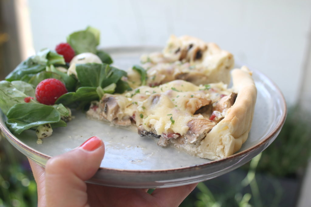 Pilz-Tarte Rezept Flammkuchen Brunch Mittsommar
