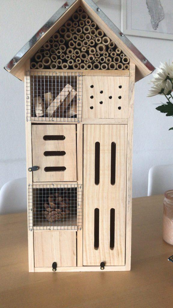 Insektenhotel Abschiedsgeschenk vorher