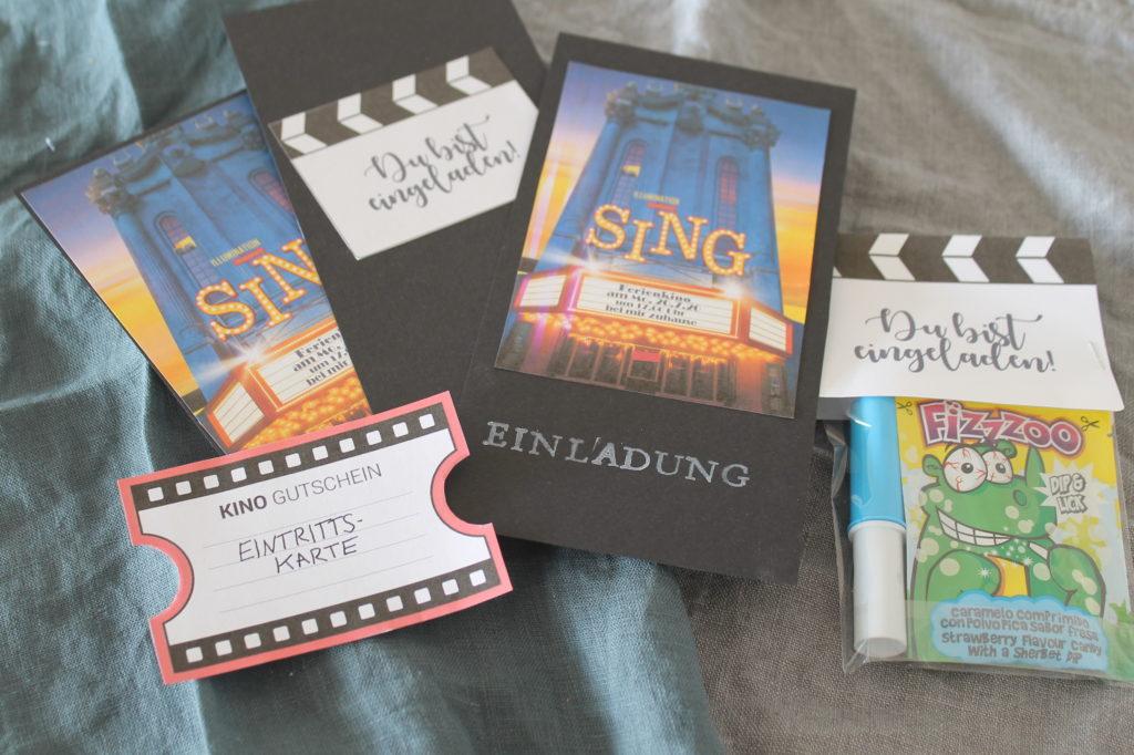 DIY Einladungskarten Ferienkino Kindergeburtstag