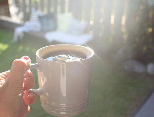 Morgenkaffee Sommer Garten