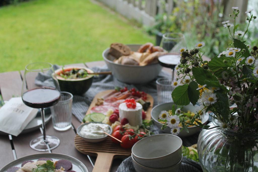Abendbrottisch Sommer Garten