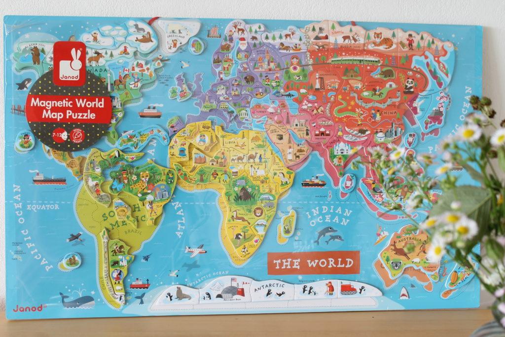 Magnetische Weltkarte Geschenk Einschulung