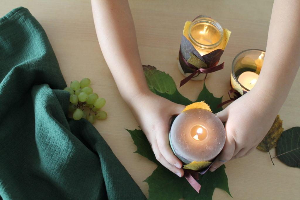 DIY Herblischter Blätter Laternen