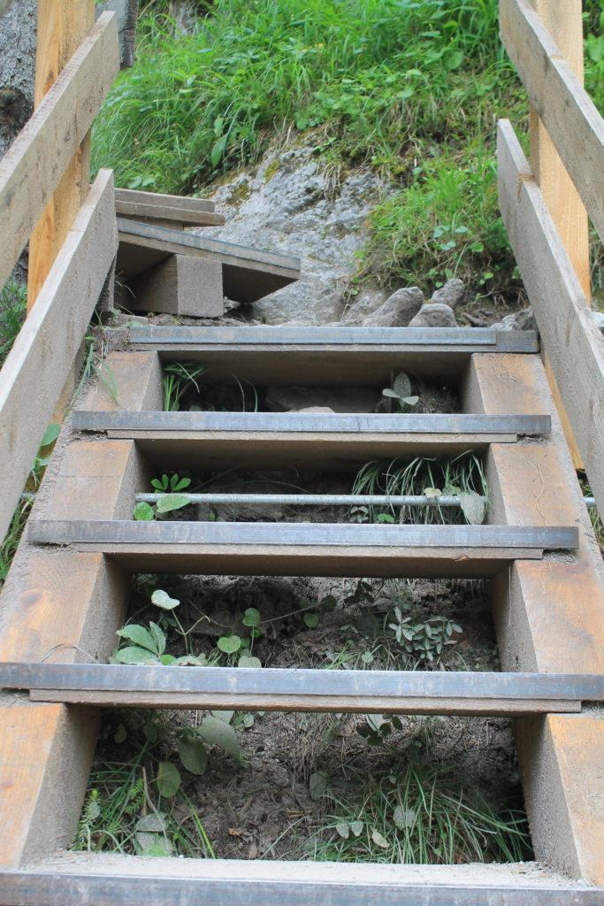 Treppen Silberkarklamm_Ausflugstipp