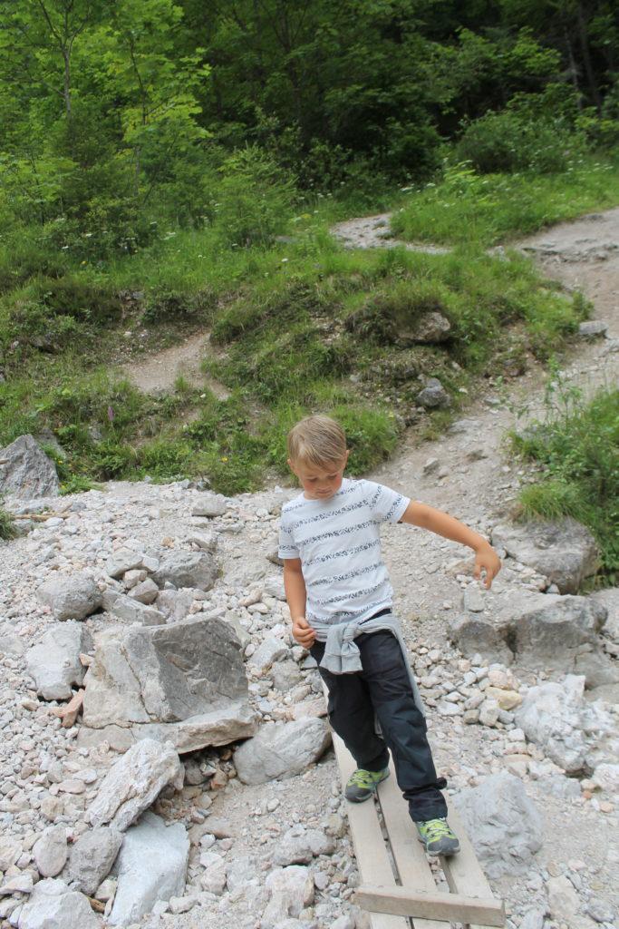 Wanderweg Silberkarklamm mit Kindern