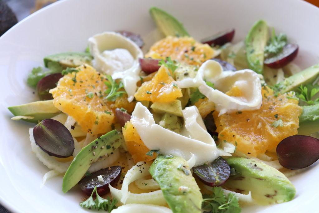 Fenchel Orangen Salat Ziegenkäse Feigen