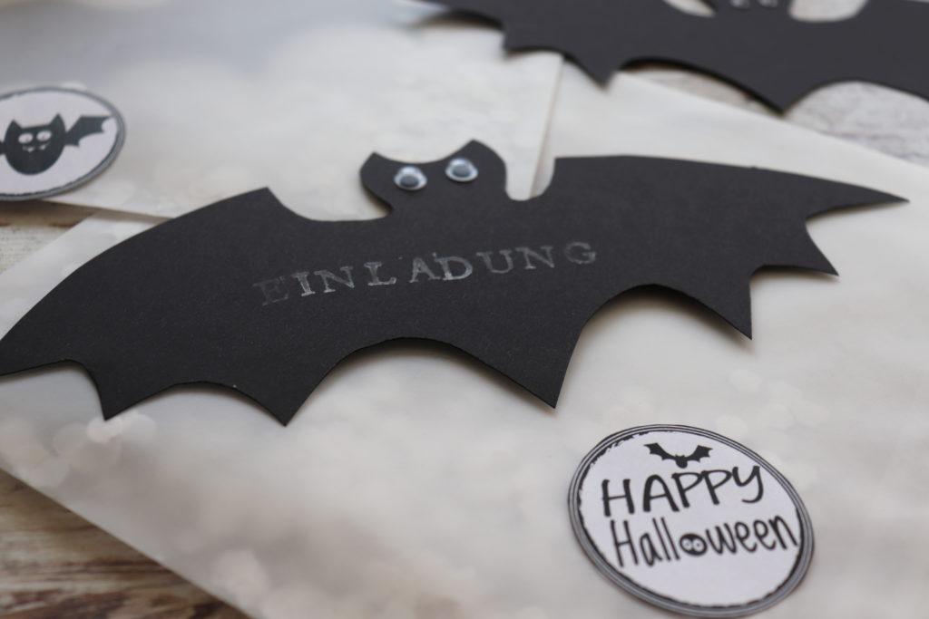 DIY Halloween Einladungen Gruselparty