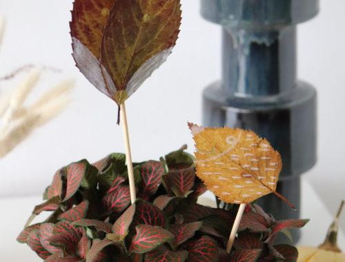 DIY Laubtiere aus Blättern basteln