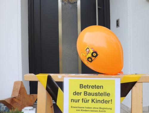 DIY Baustelle Geburtstag Mottoparty