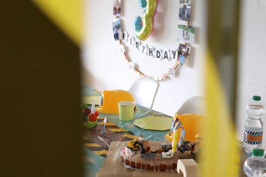 Baustelle Geburtstag Motto