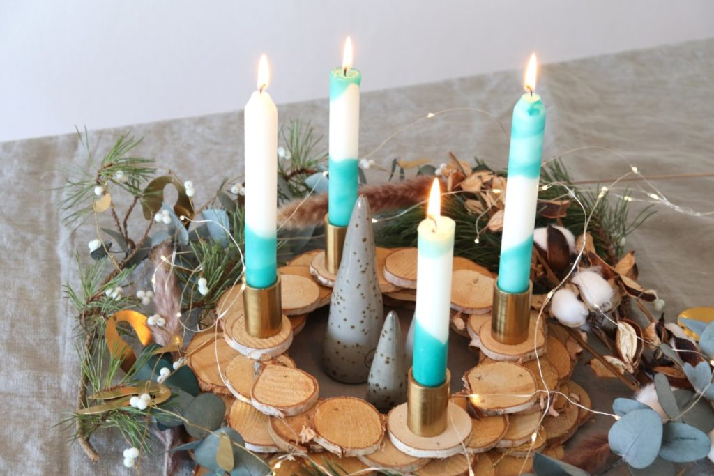 DIY Kerzen faerben Advent
