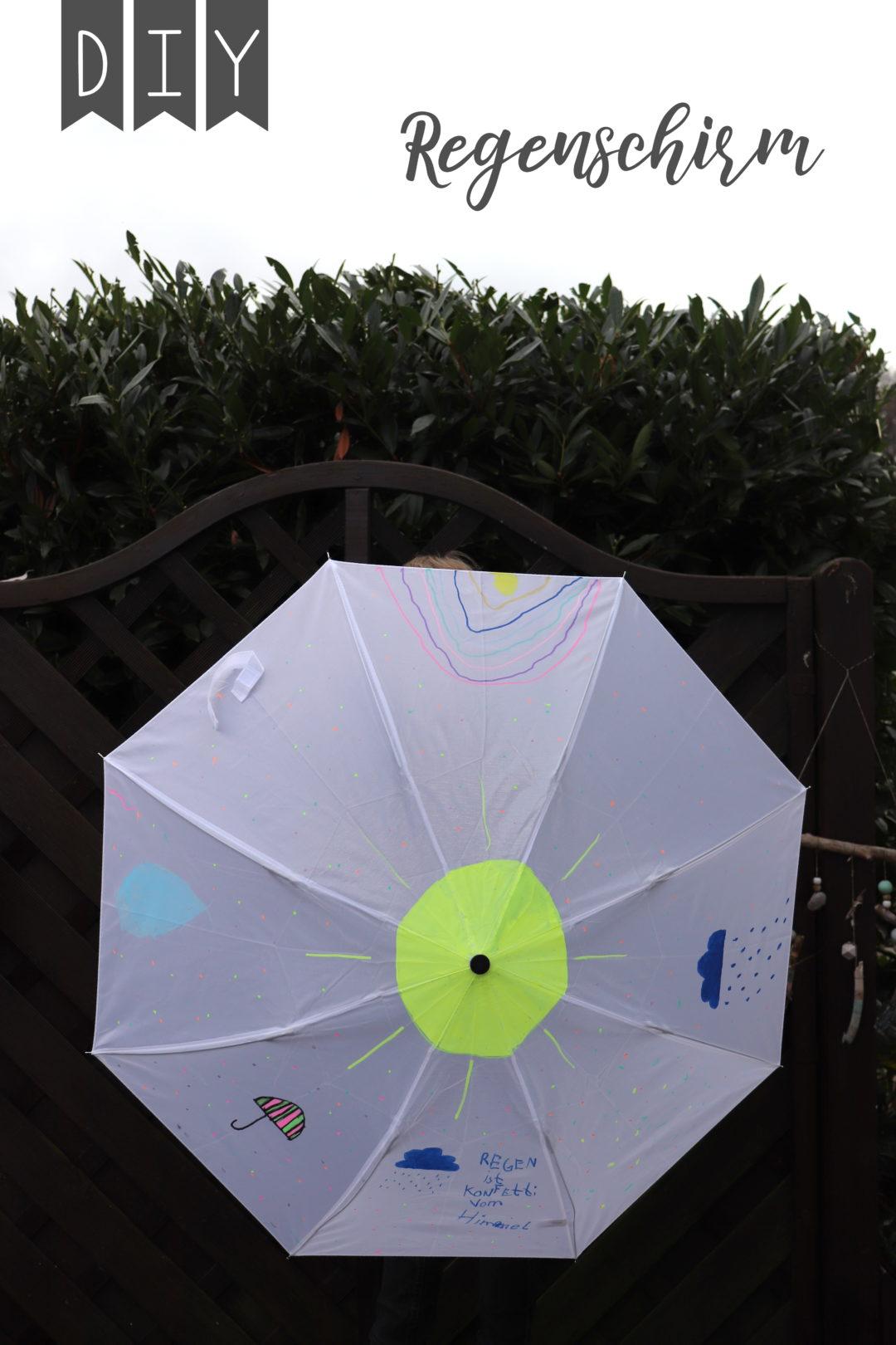 DIY Regenschirm Kinder Geschenkidee
