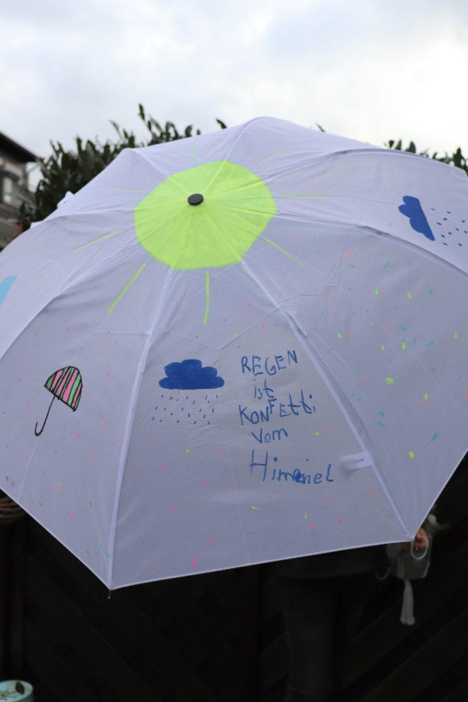 DIY Regenschirm bemalen