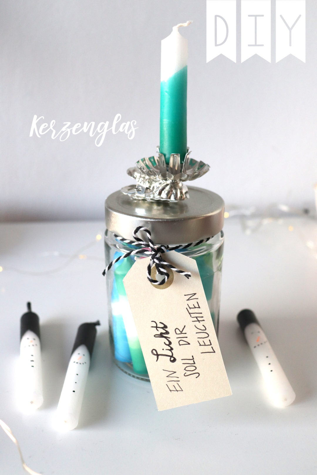 DIY Kerzenglas