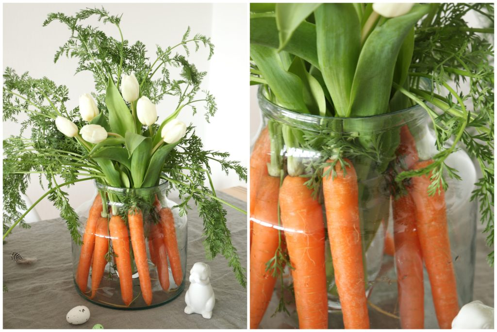 Karotten Vase Blumendeko Ostern