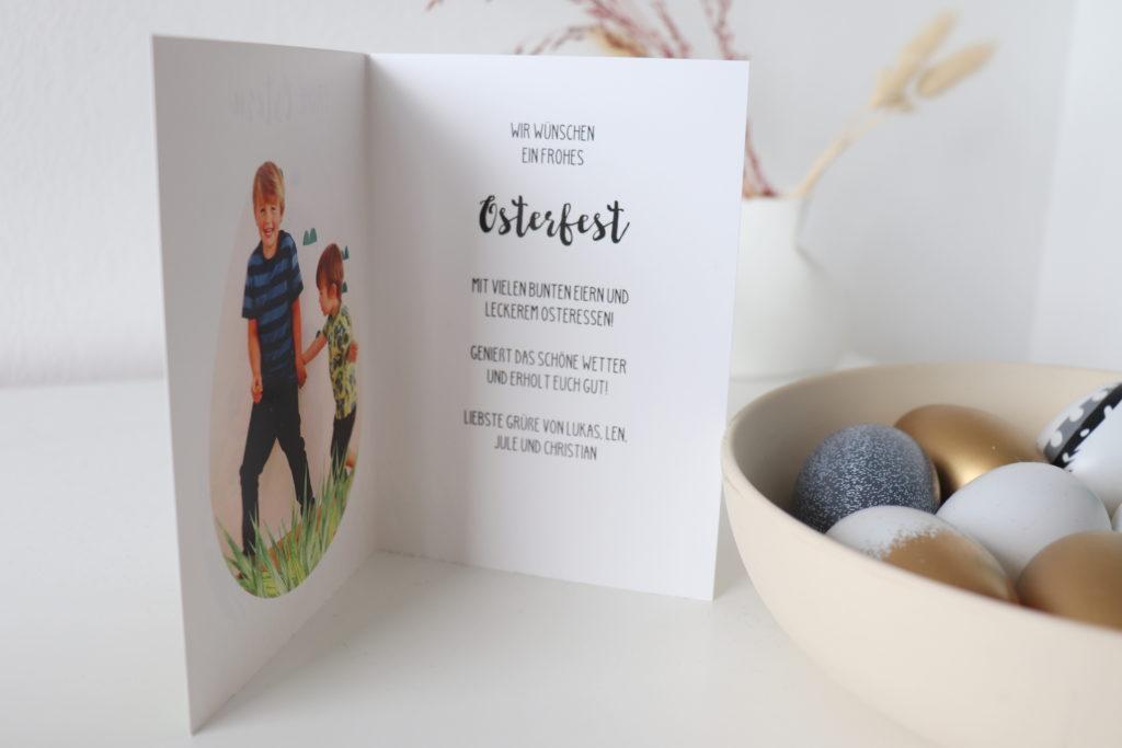 Osterkarten personalisiert innen