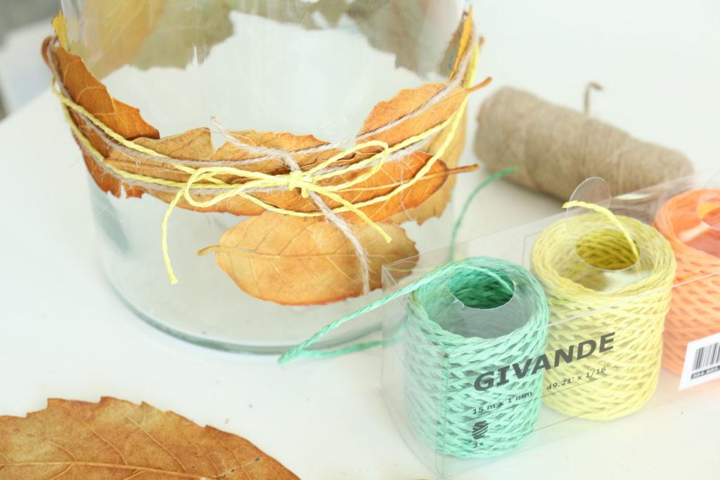 Herbstglas Anleitung mit Blaettern2