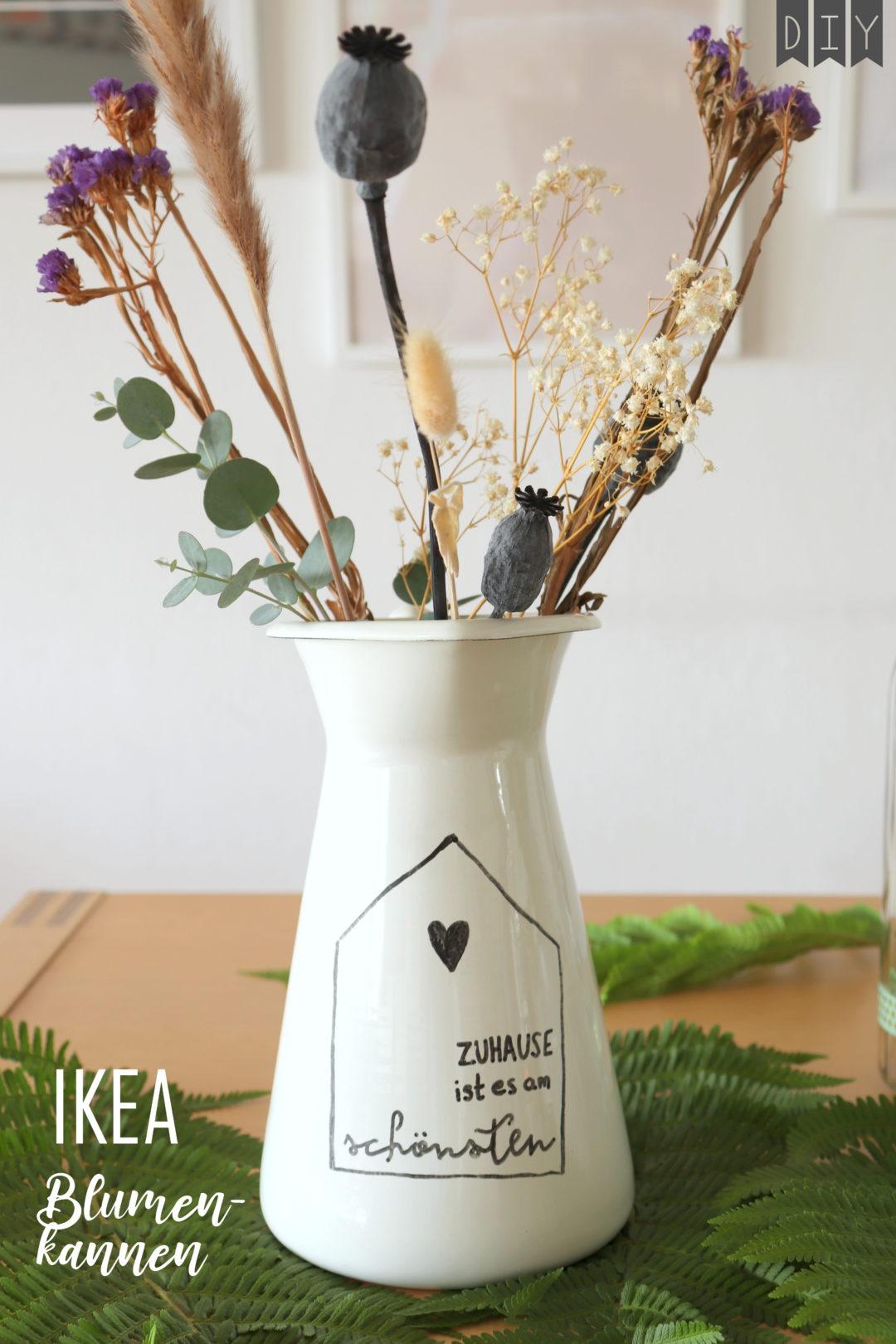 DIY Blumenkanne IKEA Hack Geschenkidee